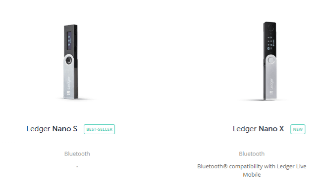 Capture d'écran de ledger.com