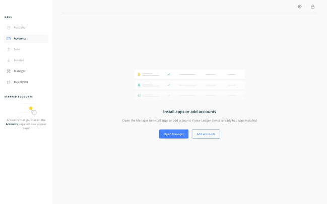 Grand livre des applications et des comptes en direct